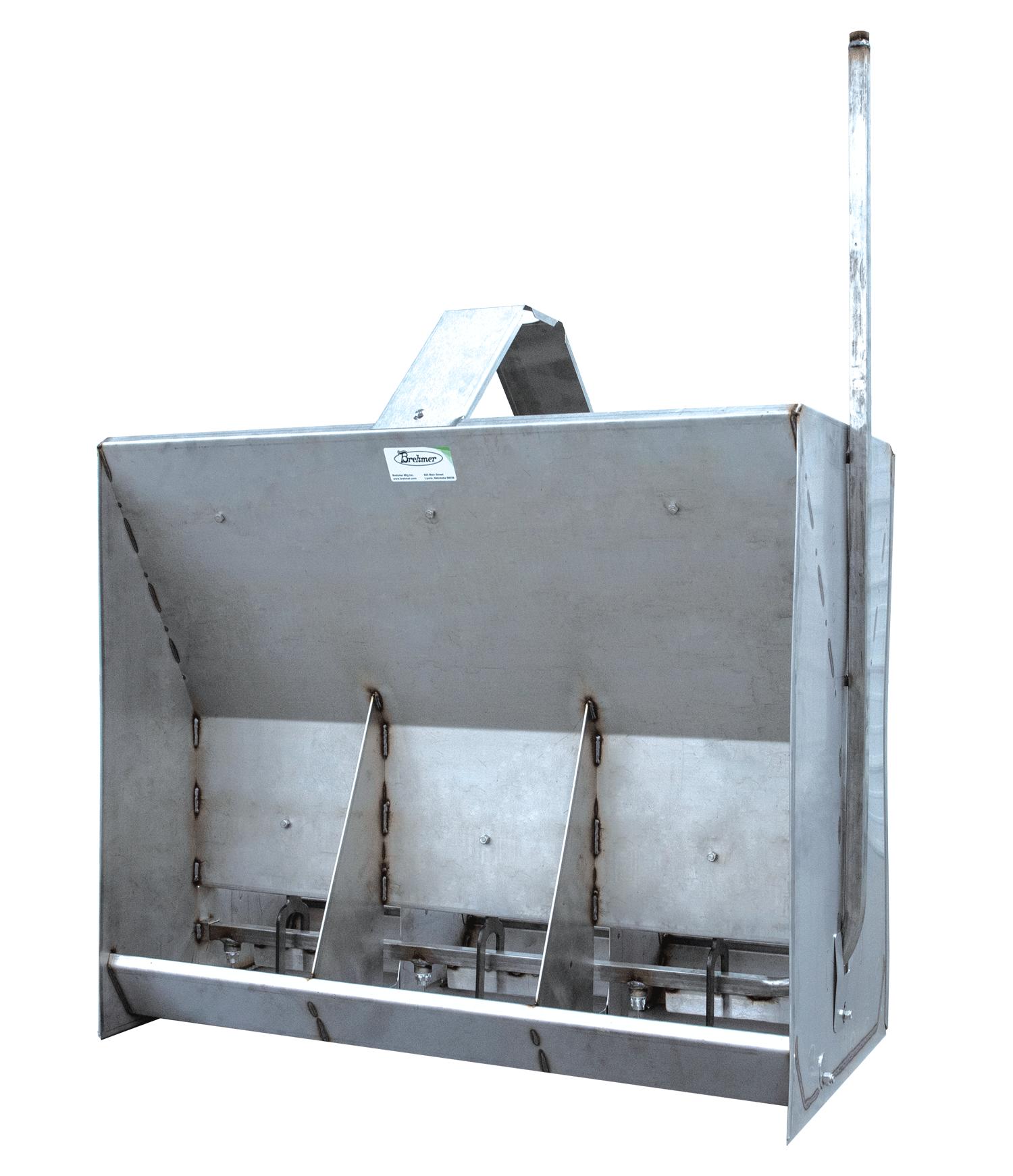 Brehmer Paddle Feeder - stainless steel hog feeder